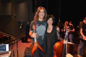 Andrea Meyers is shown with internationally recognized violinist and educator Mark Wood.