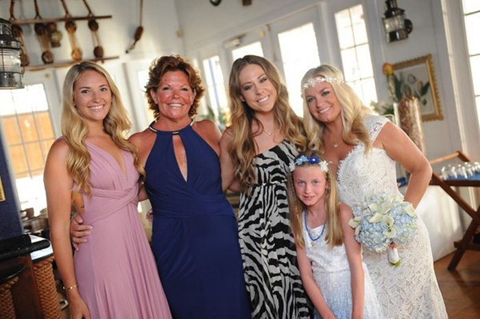 Gail Sadler is pictured with daughter Alexis, daughter-in-law Kathleen, daughter Shannon, and granddaughter Ava.