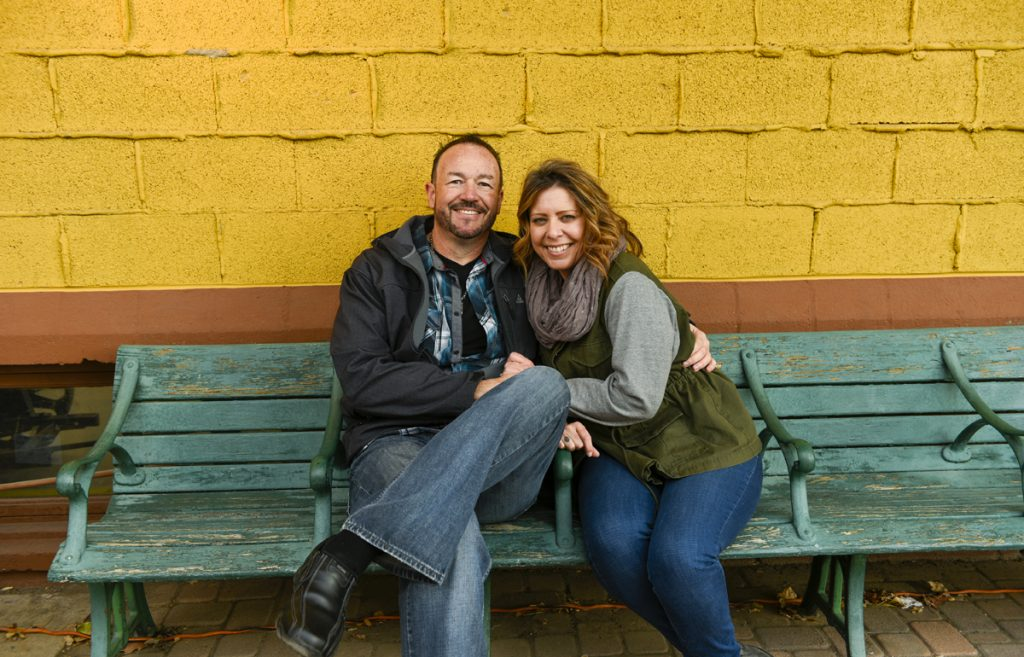 Stephen Mullen poses with his wife , Cindy. Train engineer back aboard after brain tumor threatens hearing.
