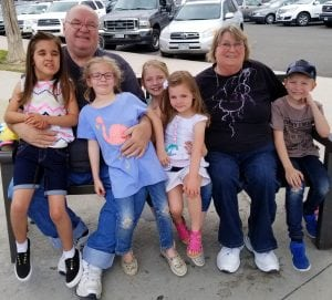 Chloe Johnson and husband Tom keep busy with grandkids (left to right) Lucy, Eden, Eliana, Eleanor and Kayden.