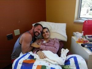 Stephen Estrada received support from his long=term partner, Kenley Erskine during chemotherapy for colon cancer. Photo courtesy of Stephen Estrada-Erskine.