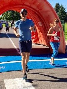 Stephen Estrada running in a 5K race to boost colon cancer awareness. Photo courtesy of Stephen Estrada-Erskine.