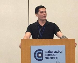 Stephen Estrada-Erskine now works as an advocate and patient guide for the national nonprofit, The Colorectal Cancer Alliance. Photo courtesy of Stephen Estrada-Erskine.