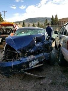 Danielle Kiefer's wrecked car