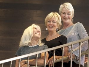 Sisters, from left, Lane Oesterle-Miller, Jill Hultin and Lynn Oesterle-Zollner. Photos by Joel Blocker, for UCHealth.