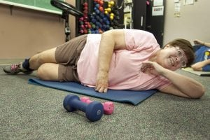 ": Pam Carnahan, 68, participates in her weekly ""Strong People"" class"