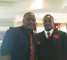 David Kenyatta and his good friend, Charles Fritz.