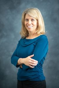 This is a photo of Dr. Christine Bliven, a breast radiologist at UCHealth Gloria Gossard Breast Care Center in Steamboat Springs.