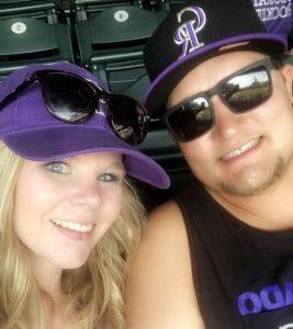 Car accident survivor Devyn Brinkerhoff poses with her fiancé, Caleb Olson.