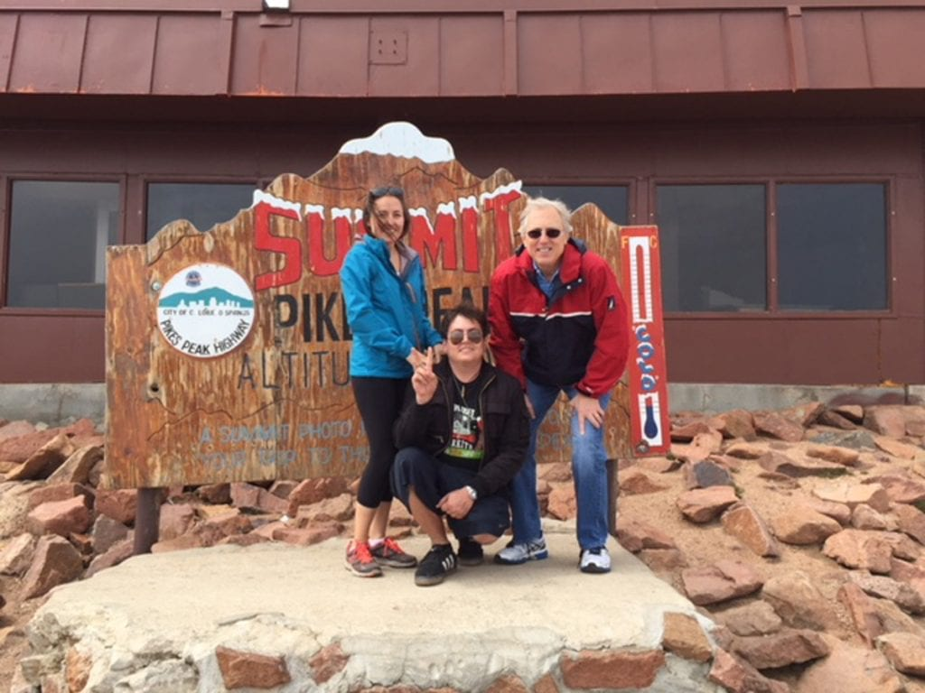 Daniel with dad Larry and sister Angela at Pikes Peak.