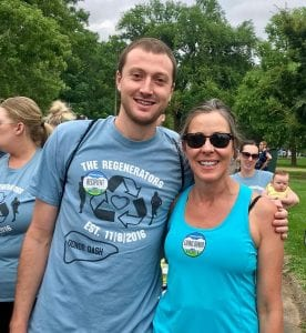 Rice and Karen Kennedy at the 2018 Donor Dash in July.