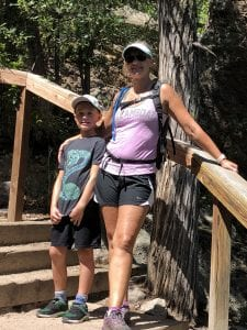 Erin and Dylan on Castlewood Canyon hike.