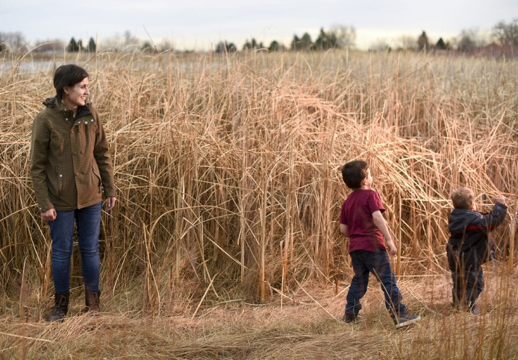 Emily West with her sons, Ollie, left, and Teddy, right. Photo by Cyrus McCrimmon for UCHealth.