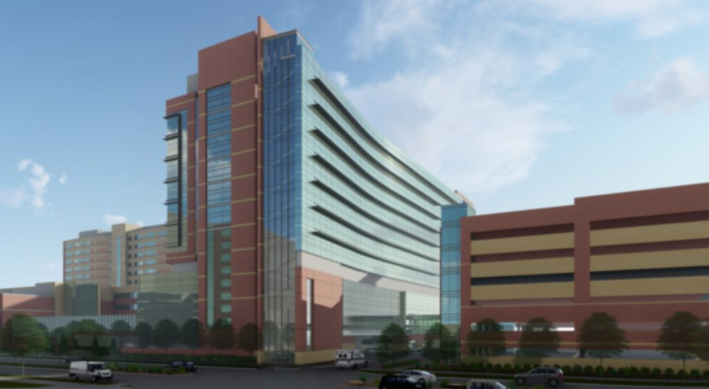 An artist's rendition of a new tower to be built by UCHealth on the Anschutz Medical Campus.