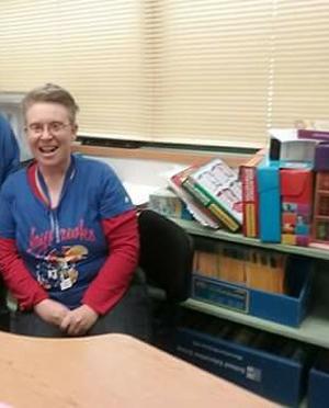 Terrie Karp is pictured in her classroom.