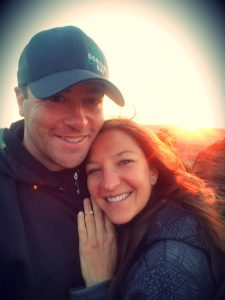 Chris Welch and Dominique Janku pose for a photo after becoming engaged.