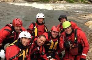 Chris Welch and others during swift water training.