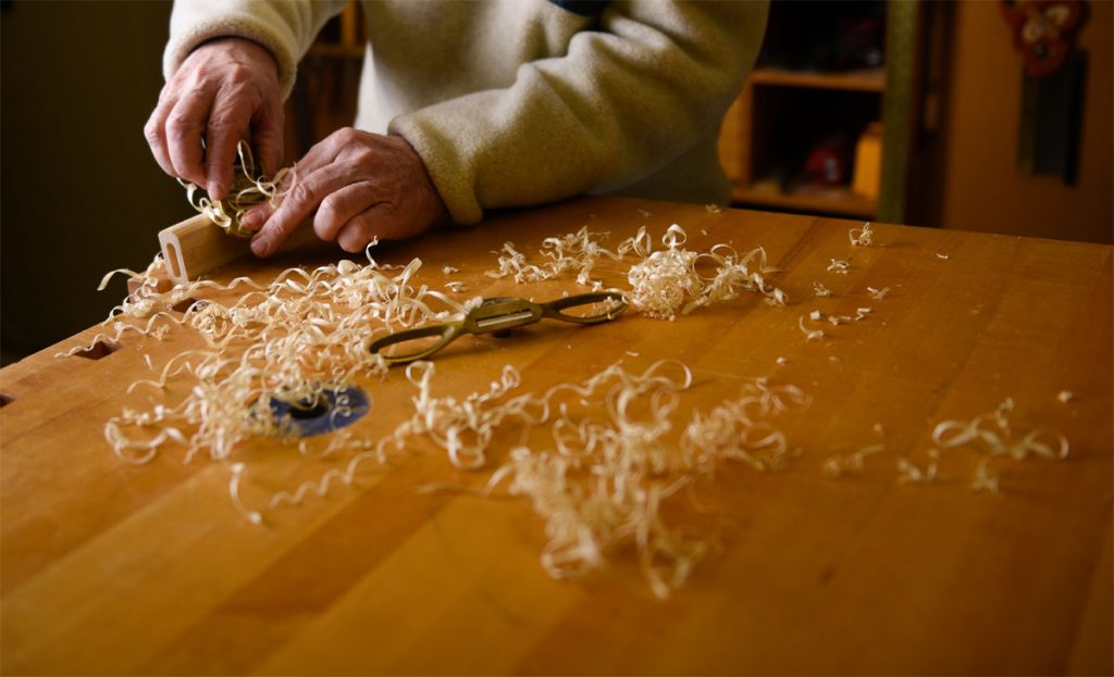 Shavings from wood carvings