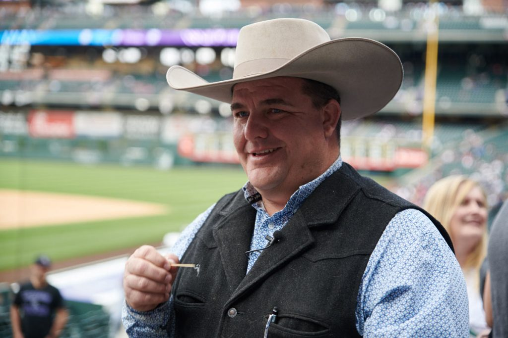 A picture of Mike Brashears at Coors Field