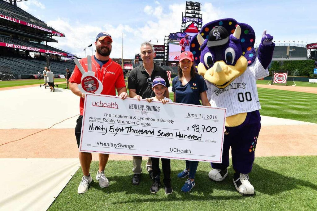 UCHealth donates $98,700 to the Leukemia & Lymphoma Society Rocky Mountain Chapter.