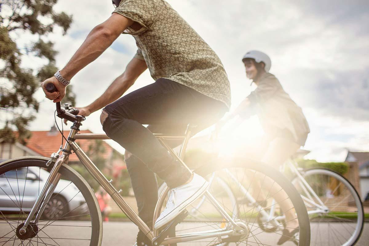 bike riders in the city