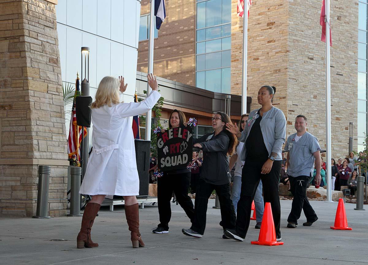 nurses celebrate Greeley Hospital opens