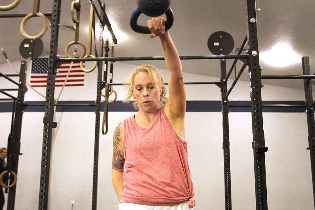 Brandi Thornton, a two-time living donor, at crossfit