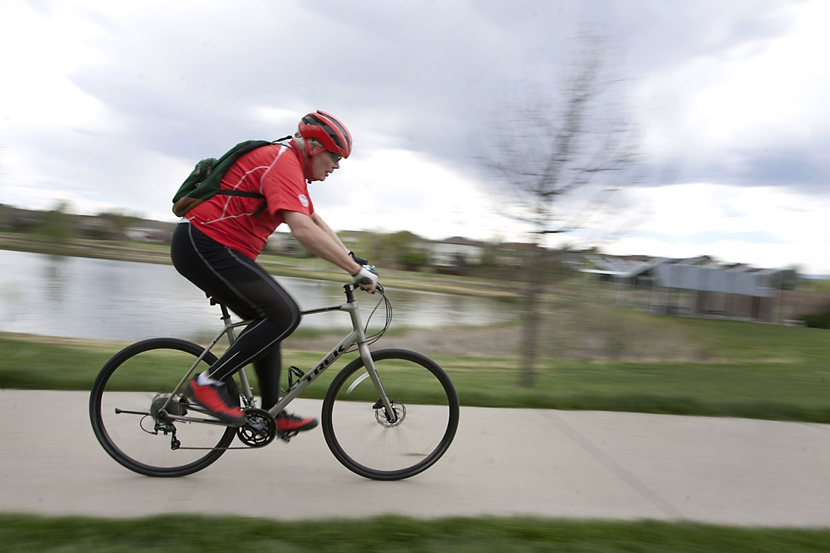 After addressing his abnormal heart rhythm, this man is back to riding his bike