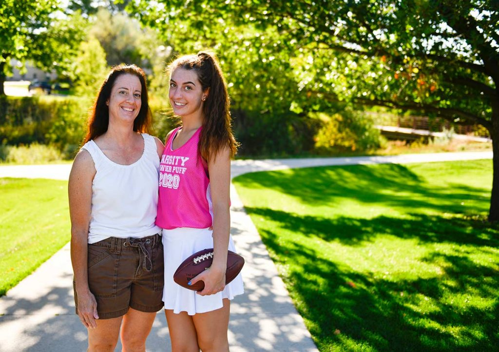 Ella Johnson and her mother in a Colorado Park.