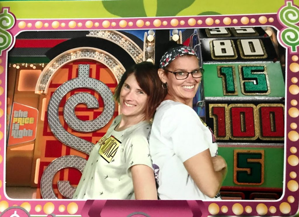 Marybeth Hoffman appears on the set of The Price is Right