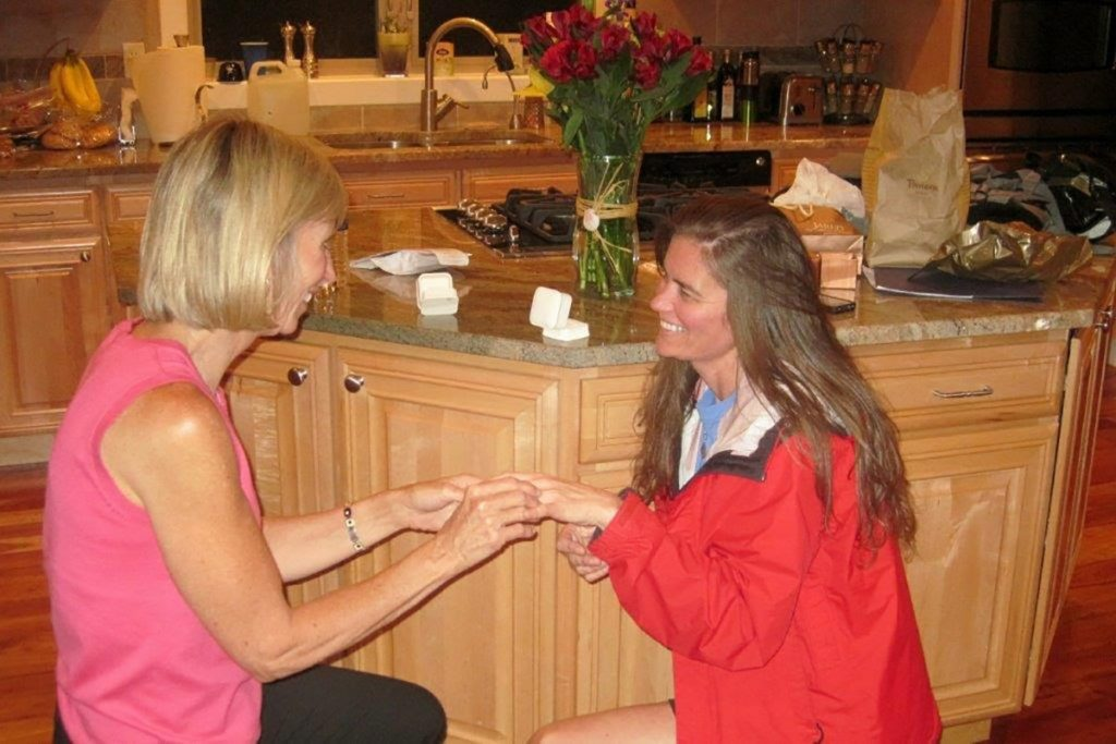 Marybeth slips a ring on her now wife Terry, deciding to get married while also fighting pancreatic cancer.
