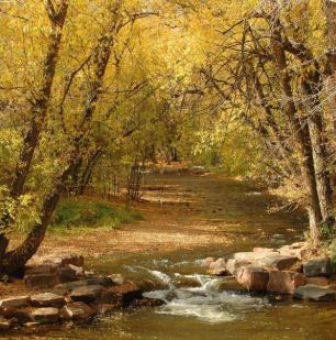 The Boulder Creek Path is a great place to walk or run.