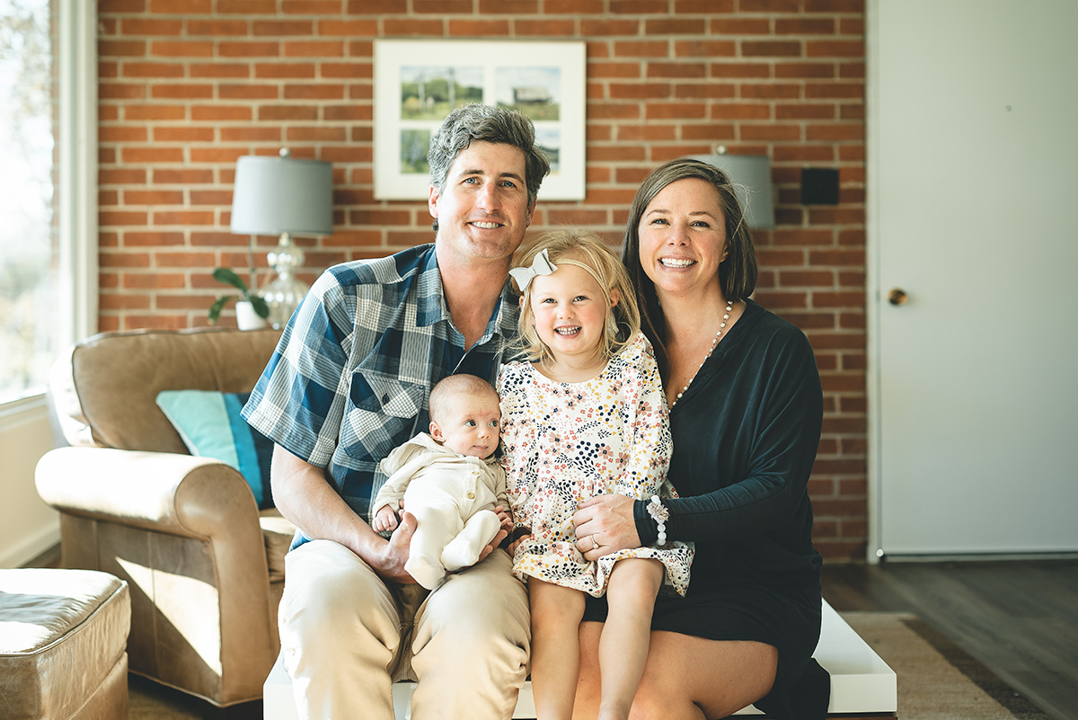 This is a photo of Graham and Erin McDaniel and their two girls, Mimi and Eddy. Photo courtesy of Erin McDaniel.
