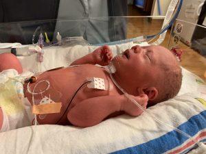 This is a photo of newborn Mimi McDaniel.