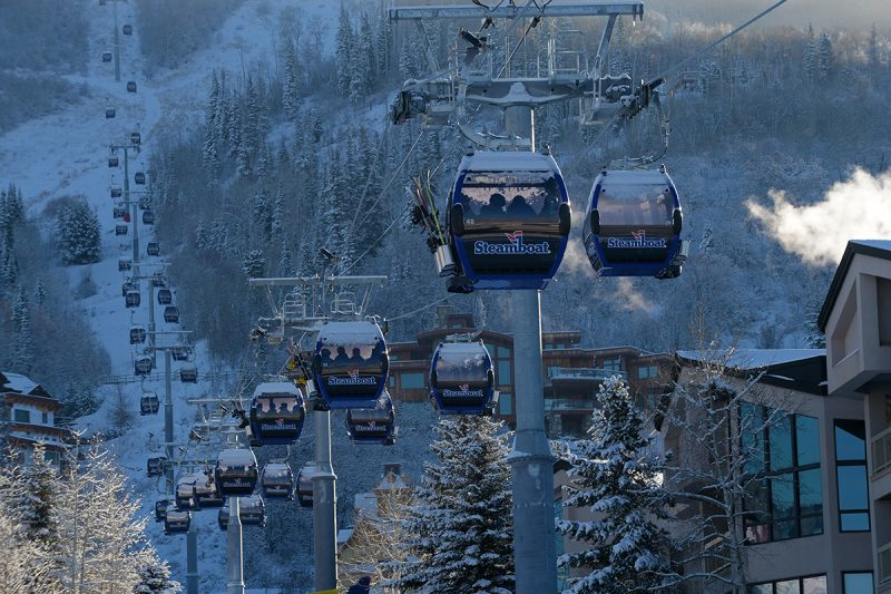 This is a photo of the new gondola at Steamboat Resort.