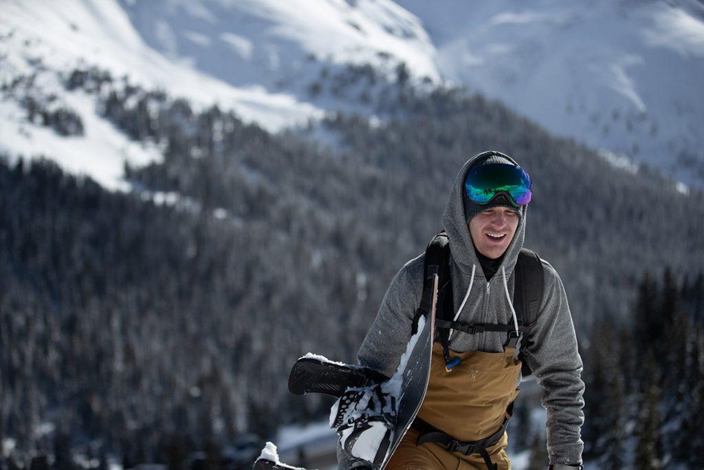 Jon Blank walks near Loveland Pass in Colorado.