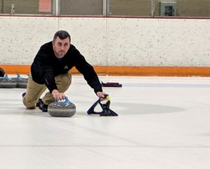 man shown curling