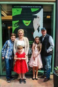 After being diagnosed with colon cancer, UCHealth invited the Alexander family to enjoy a day away from the clinics and test, with the cast of Wicked.