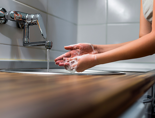 staying safe from COVID-19 in the U.S. by washing your hands