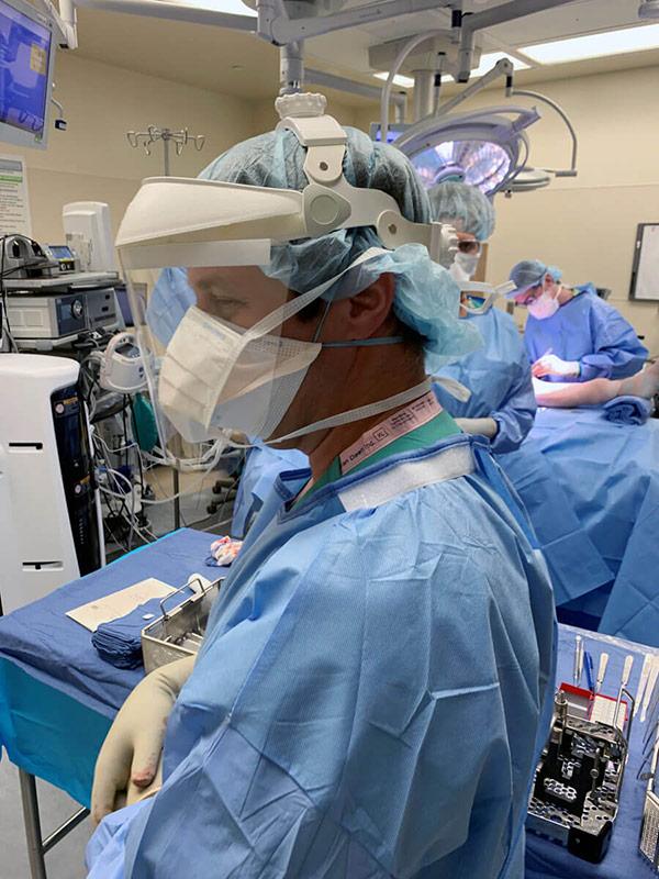 orthopedic trauma room during the coronavirus pandemic showing it still continues.