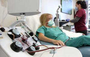 machine that takes Julies plasma at work