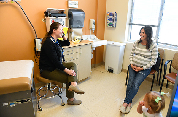 birth during a pandemic. Dr. Molly Hoss speaks with Amanda Kronebusch about the plans for her birth during one of Amanda's last prenatal visits.