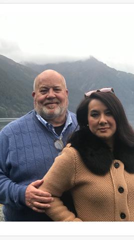 Keith Klaehn and his wife, Elizabeth, photographed in Alaska