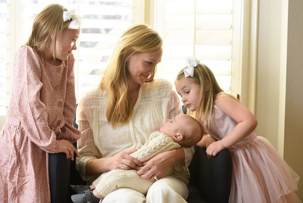 Photo of Jenny York with her three kids