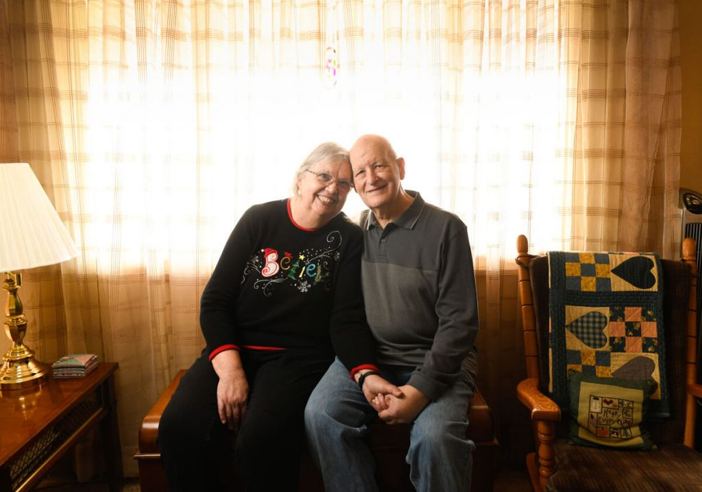 Peggy and Tom Pighetti both received cancer care in Highlands Ranch.