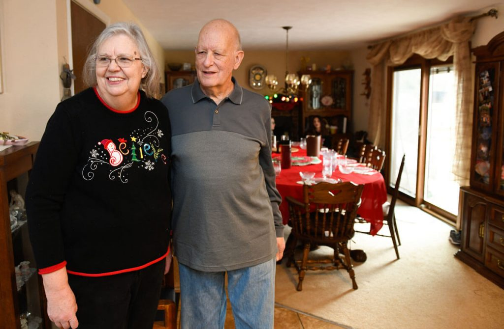 Tom and Peggy Pighetti hosted a belated Christmas gathering at the end of February. Both have received cancer care from their Highlands Ranch doctor.