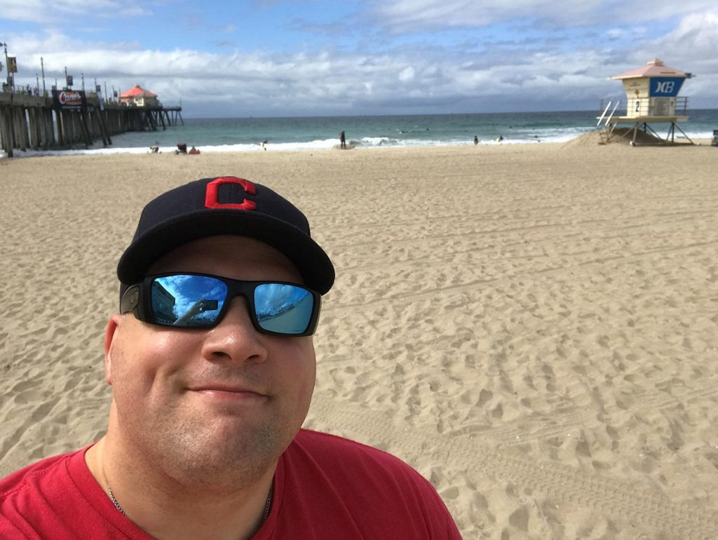 The summer after finishing his rectal cancer treatment without surgery, Jeff enjoyed a trip to the beach in California. Photo courtesy of Jeff Armentrout.