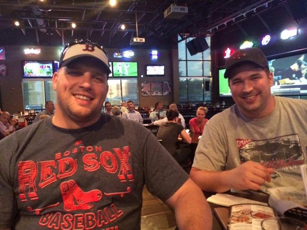 Jeff Armentrout (left) with his younger brother Jeremy. Jeff credits his family, as well as friends and faith, for helping him through his battle with rectal cancer, which included treatment without surgery. Photo courtesy of Jeff Armentrout.