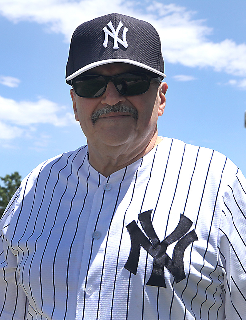 Sal in his Yankee hat and jersey