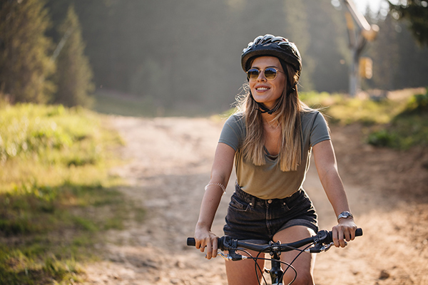What is a labiaplasty? Some women feel discomfort while riding a bike, like this woman in doing.